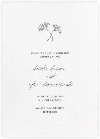 Blanc (Tall) - Paperless Post - Dinner Party Invitations
