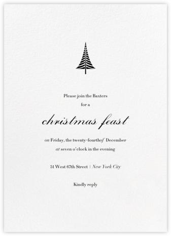 Blanc (Tall) - Paperless Post - Christmas invitations