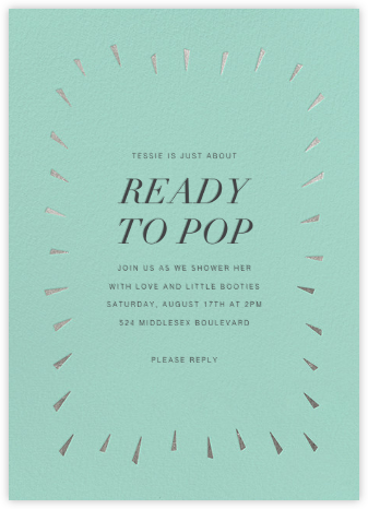 Éclat - Celadon/Silver - Paperless Post - Baby Shower Invitations