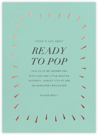 Éclat - Celadon/Rose Gold - Paperless Post - Baby Shower Invitations
