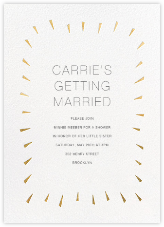 Éclat - White/Gold - Paperless Post - Bridal shower invitations