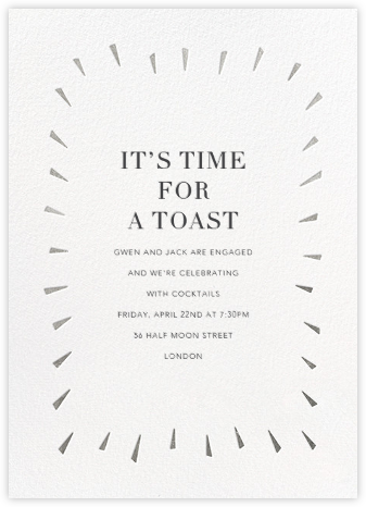 Éclat - White/Silver - Paperless Post - Engagement party invitations