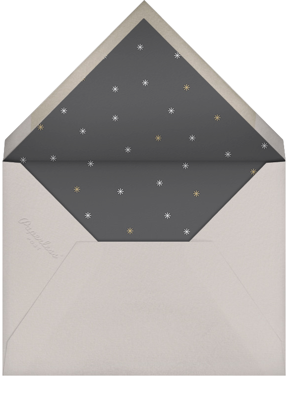 Éclat - White/Silver - Paperless Post - Engagement party - envelope back