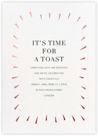 Éclat - White/Rose Gold - Paperless Post - Engagement party invitations