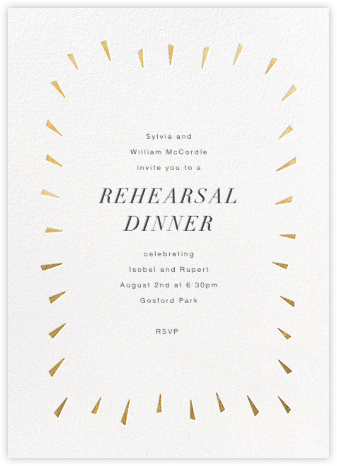 Éclat - White/Gold - Paperless Post - Wedding Weekend Invitations