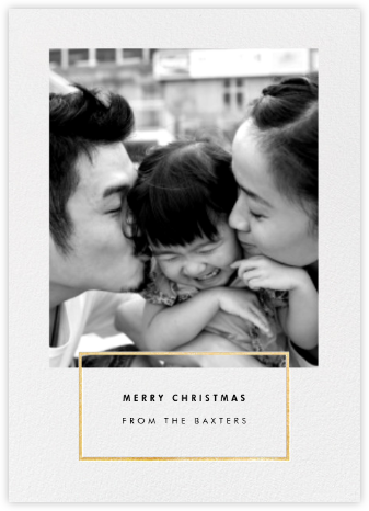 Placard - Gold - Paperless Post - Photo Christmas Cards