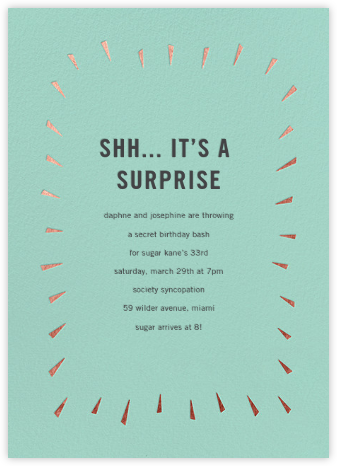 Éclat - Celadon/Rose Gold - Paperless Post - Birthday invitations