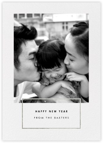 Placard - Silver - Paperless Post - New Year Cards