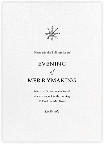 Blanc (Tall) - Paperless Post - Winter Party Invitations