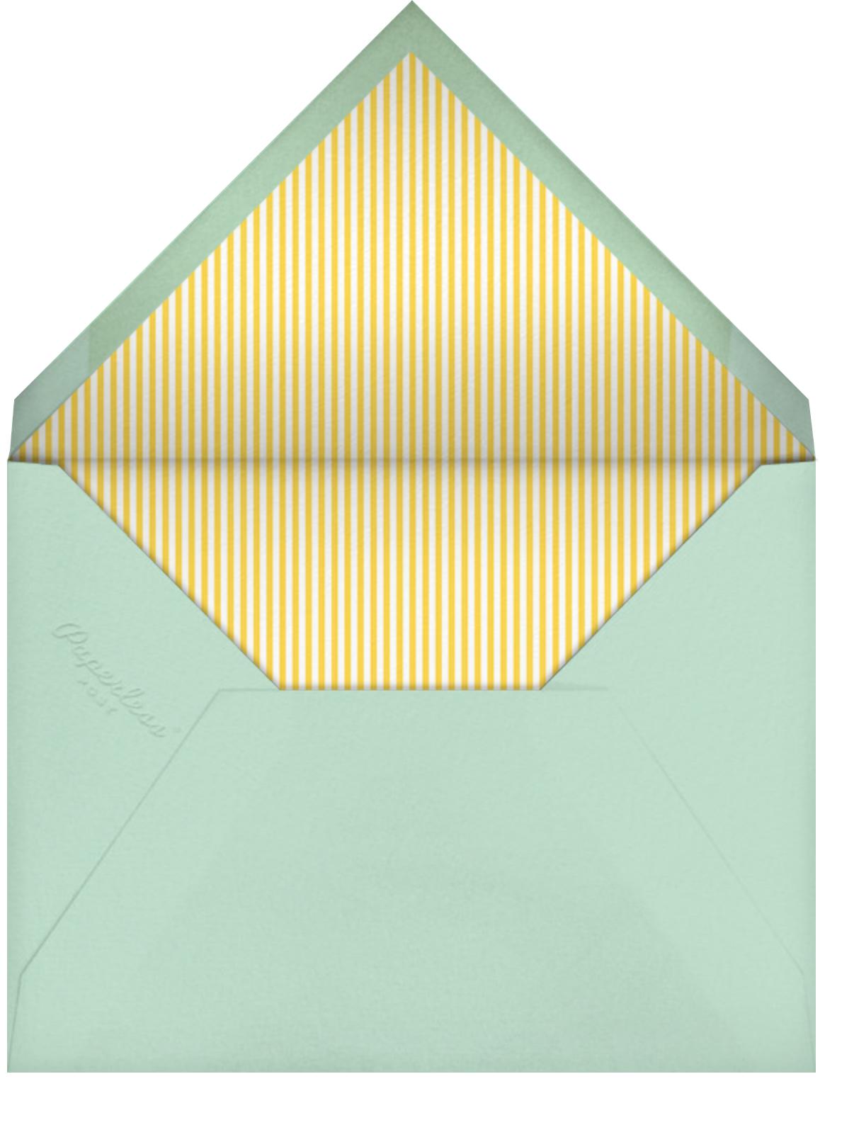 Farmyard Family - Little Cube - Baby shower - envelope back