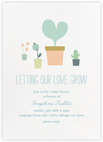 Seedlings - Little Cube - Baby Shower Invitations