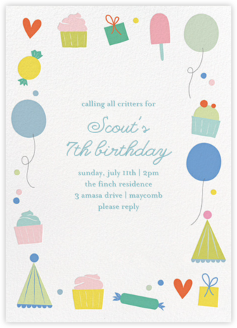 Sweet Celebration - Little Cube - Online Kids' Birthday Invitations