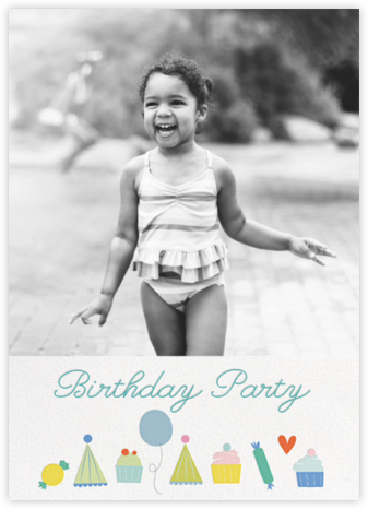 Sweet Celebration (Photo) - Little Cube - Online Kids' Birthday Invitations