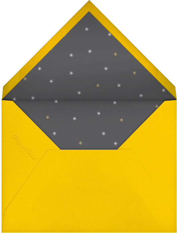 Éclat - White/Gold - Paperless Post - Retirement party - envelope back