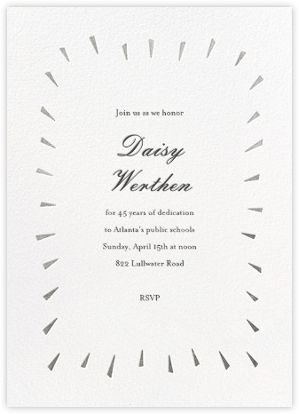 Éclat - White/Silver - Paperless Post - Business event invitations