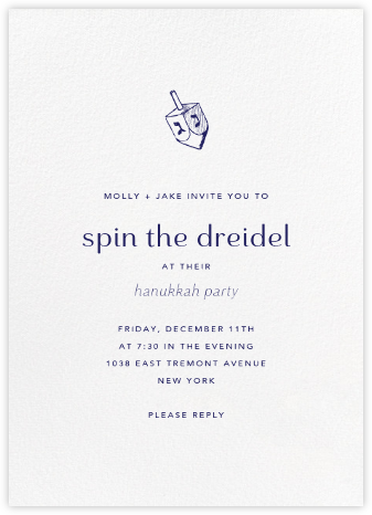 White (Tall) - Paperless Post - Hanukkah Invitations