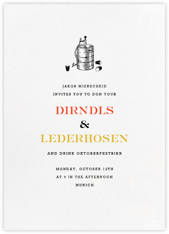 White (Tall) - Paperless Post - Oktoberfest invitations