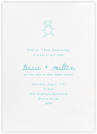 White (Tall) - Paperless Post - Woodland Baby Shower Invitations