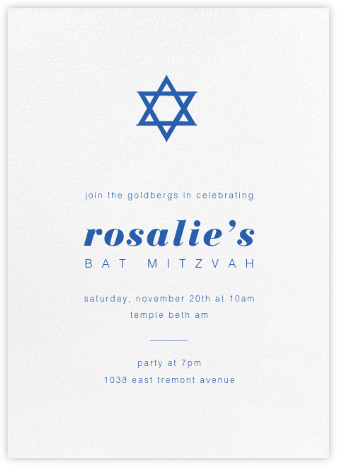 White (Tall) - Paperless Post - Bar and Bat Mitzvah Invitations