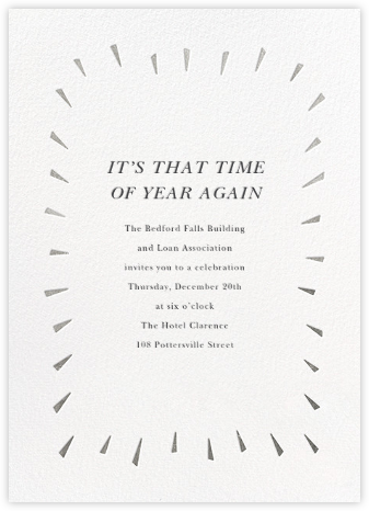 Éclat - White/Silver - Paperless Post - Company holiday party