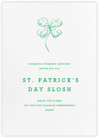 White (Tall) - Paperless Post - St. Patrick's Day Invitations