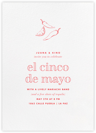 White (Tall) - Paperless Post - Cinco de Mayo Invitations