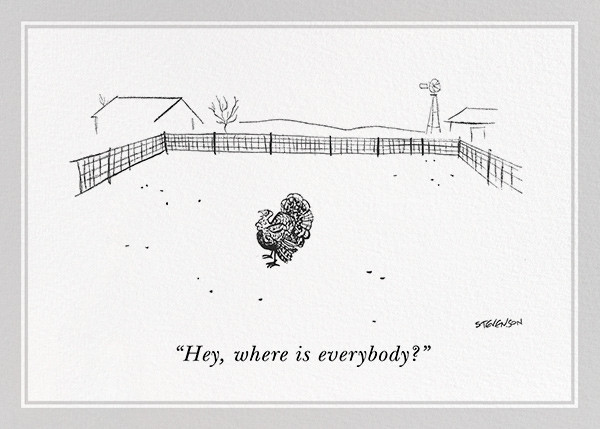 Lonely Turkey - The New Yorker - Thanksgiving invitations