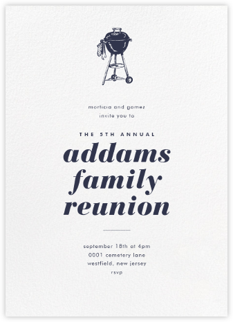 White (Tall) - Paperless Post - Reunion Invitations