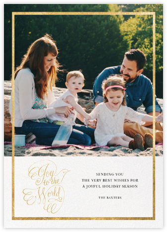 Messenger Dove - Gold - Paperless Post - Holiday cards