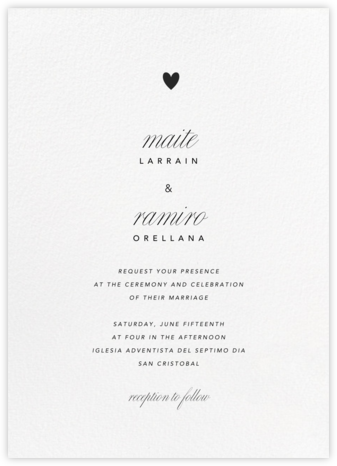 Blanc (Tall) - Paperless Post - Wedding Invitations