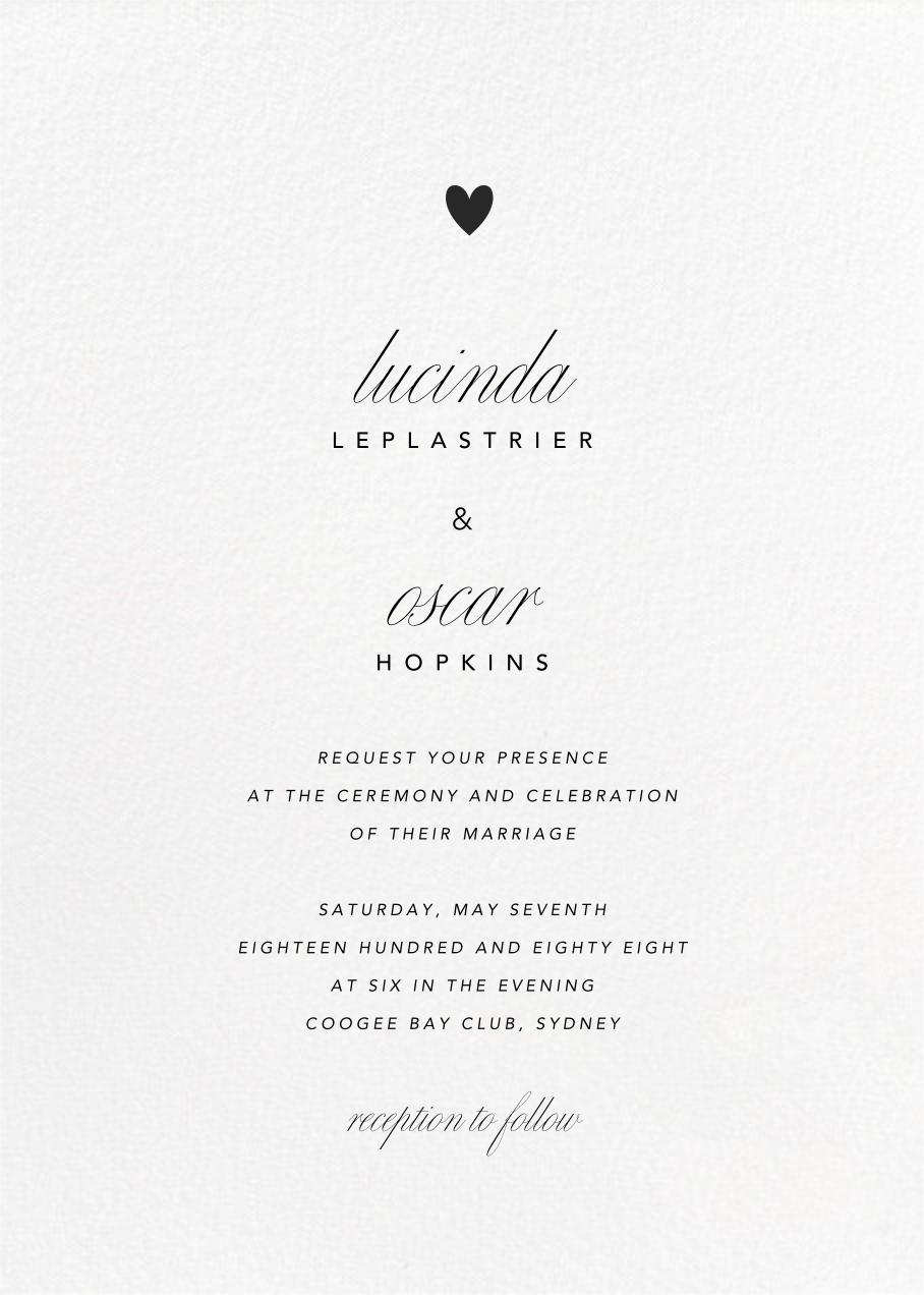 Blanc (Tall) - Paperless Post - Modern wedding invitations