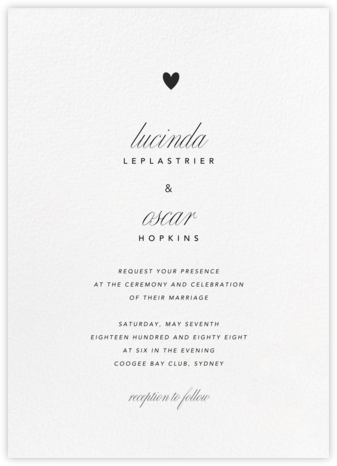 Blanc (Tall) - Paperless Post - Modern wedding invitations
