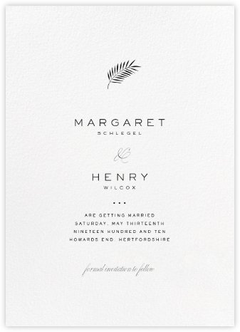 Blanc (Tall) - Paperless Post - Modern save the dates