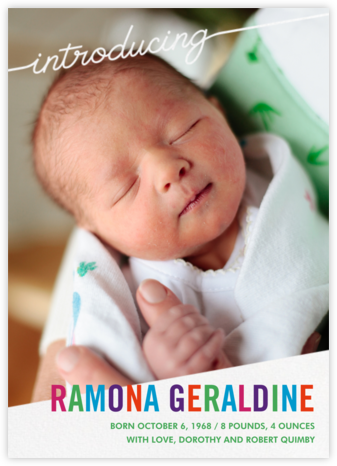 Little Debut - White - Paperless Post - Birth Announcements