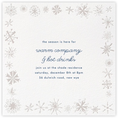 Freehand Snowflake - Paperless Post - Winter Party Invitations