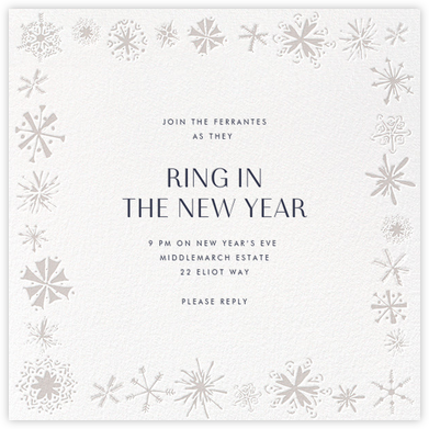 Freehand Snowflake - Paperless Post - New Year's Eve Invitations