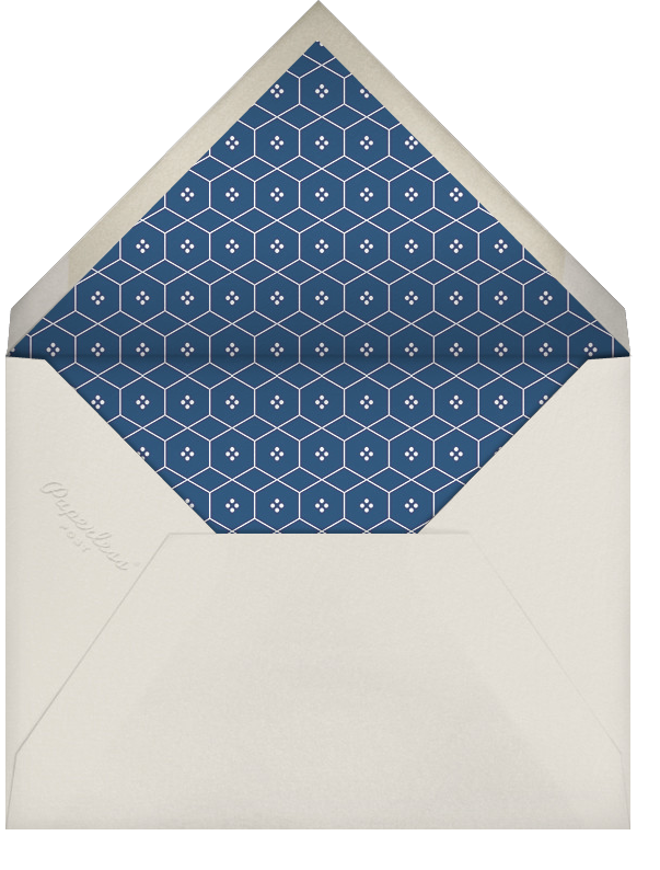 Mayfair - Dark Blue - Paperless Post - Notecards - envelope back