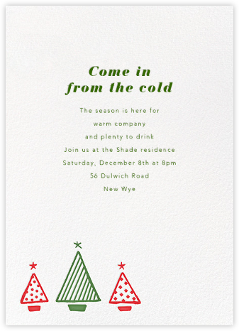 Graphic Christmas Tree - Paperless Post - Invitations