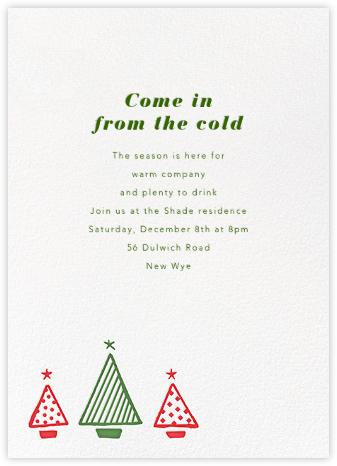 Graphic Christmas Tree - Paperless Post - Christmas invitations