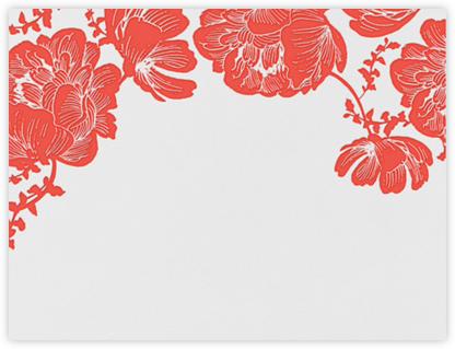 Audrey I (Stationery) - Geranium - Paperless Post - Notecards