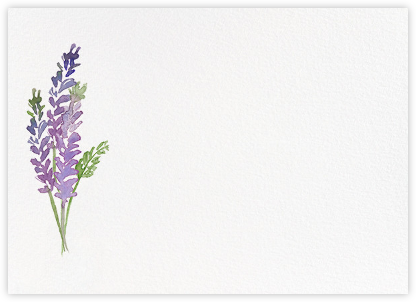 Mountain Flora (Stationery) - Lilac | horizontal