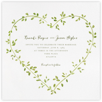 Dahlias (Square) - Paperless Post - Wedding invitations