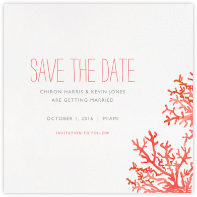 Beach Coral - Paperless Post - Save the dates