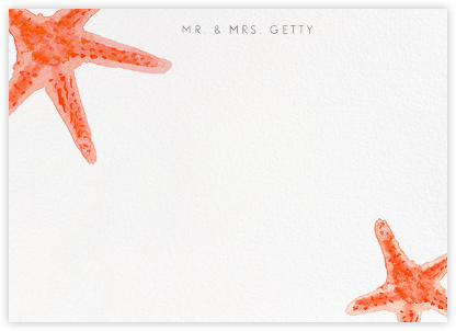 Sea Star - Paperless Post - Stationery