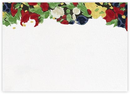 Isabela Floral (Horizontal) - Oscar de la Renta - Notecards