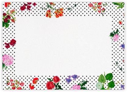 Botanical Dot - White (Thank You) - Oscar de la Renta - Notecards
