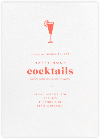 White (Tall) - Paperless Post - Happy hour invitations