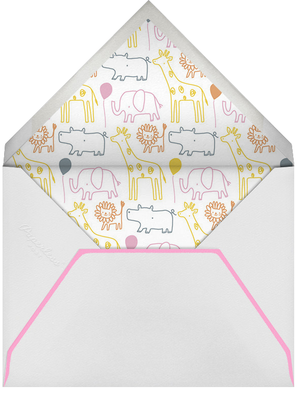 Jungle March - Little Cube - Kids' stationery - envelope back