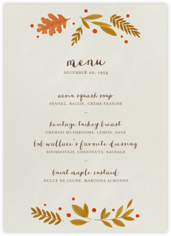 Autumnal Wreath (Menu) | tall
