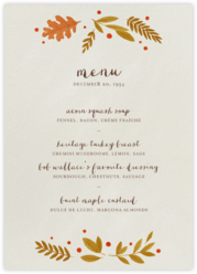 Autumnal Wreath (Menu)